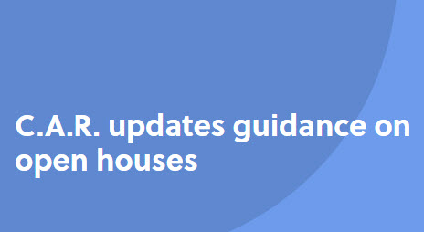 C.A.R. updates guidance on open houses logo